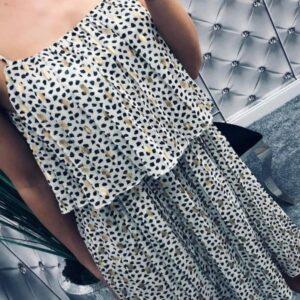 Golden white dress