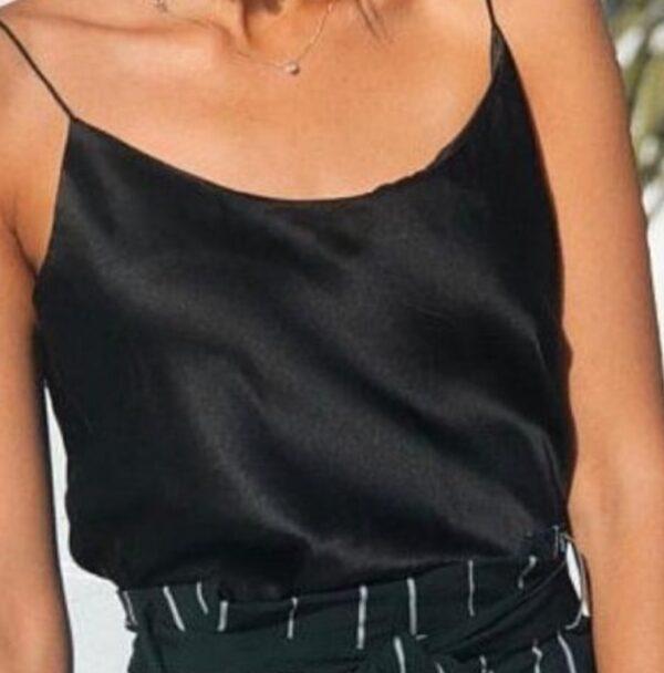 Black silk top