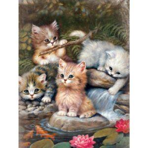 Diamond painting katten